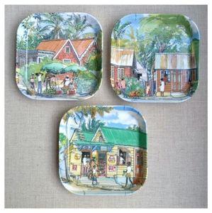 Jim Walker Vintage Small Square Shape Plates Set